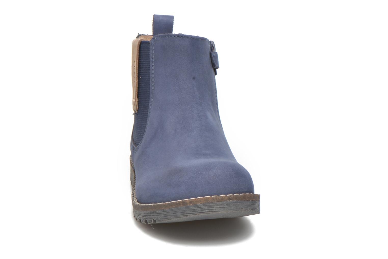 Bottines et boots Kickers Haka Bleu vue portées chaussures