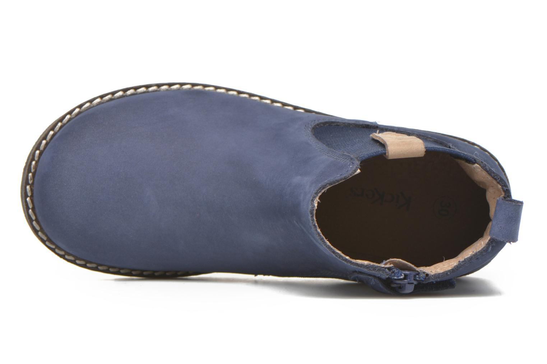 Bottines et boots Kickers Haka Bleu vue gauche