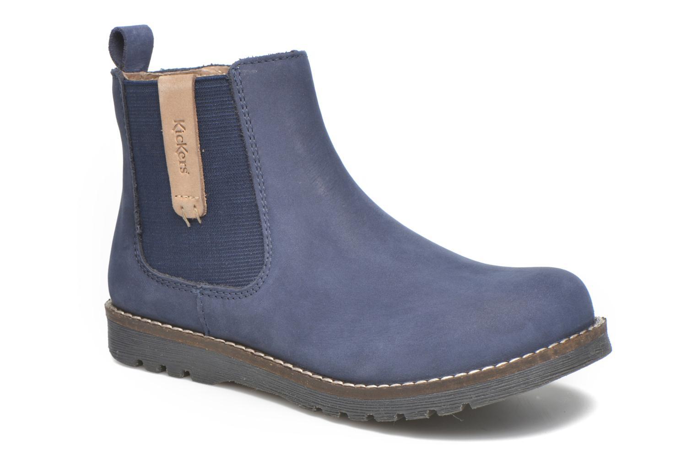Bottines et boots Kickers Haka Bleu vue détail/paire