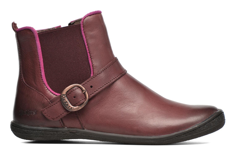 Bottines et boots Kickers Cadmium Bordeaux vue derrière