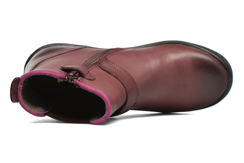 Bottines et boots Kickers Cadmium Bordeaux vue gauche