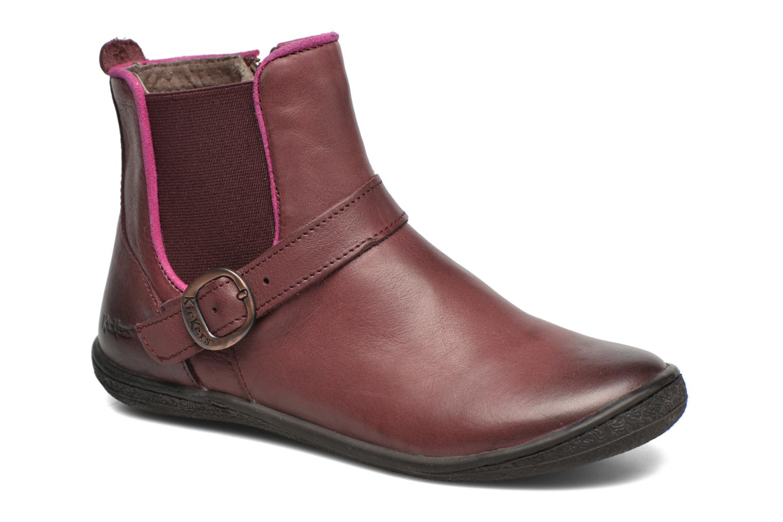 Bottines et boots Kickers Cadmium Bordeaux vue détail/paire