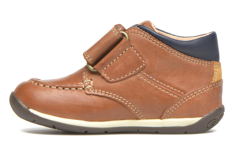 Chaussures à scratch Geox B Each B. B B640BB Marron vue face