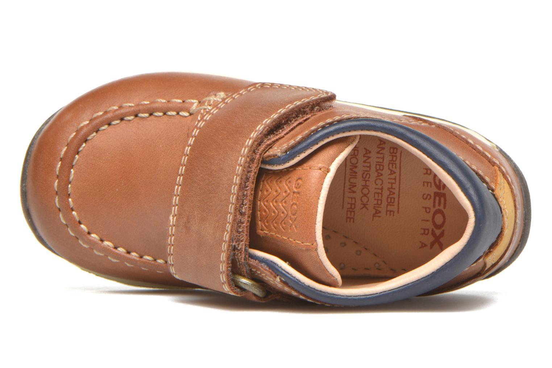 Chaussures à scratch Geox B Each B. B B640BB Marron vue gauche
