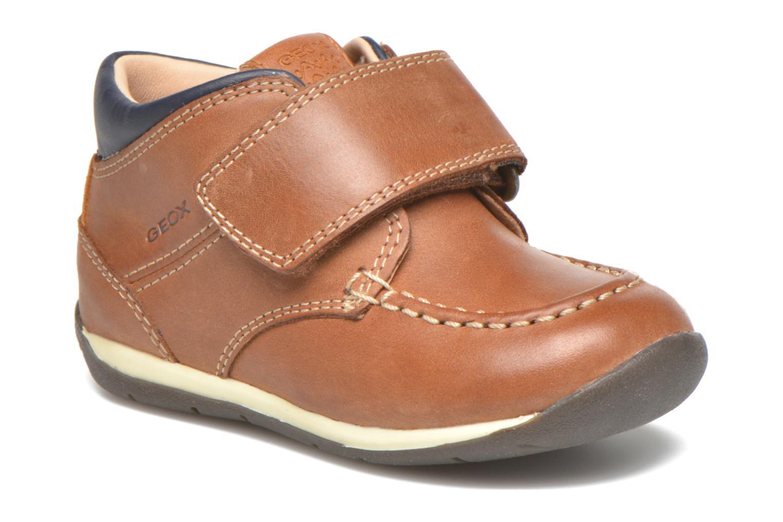 Chaussures à scratch Geox B Each B. B B640BB Marron vue détail/paire