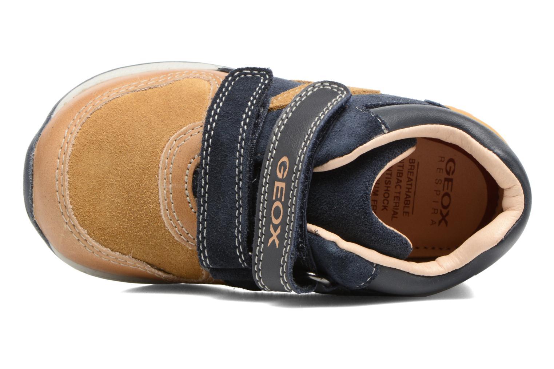 Sneakers Geox B Rishon B. A B640RA Marrone immagine sinistra