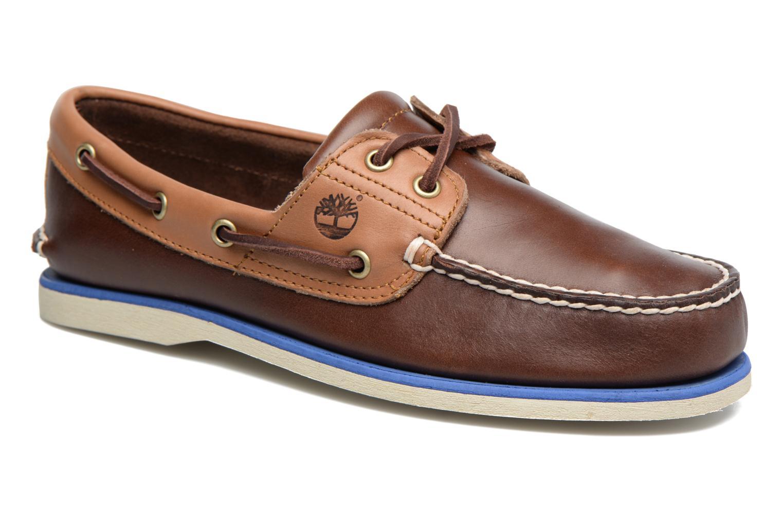 Chaussures à lacets Timberland Classic Boat 2 Eye Marron vue détail/paire