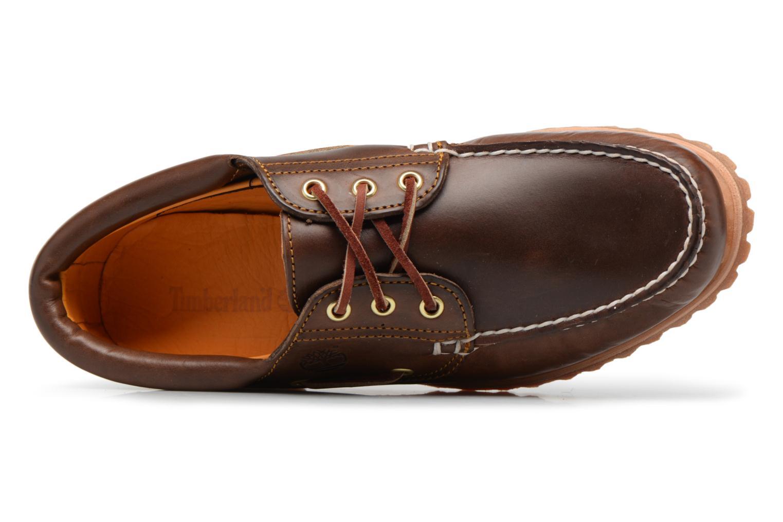Chaussures à lacets Timberland Authentics 3 Eye Classic Marron vue gauche