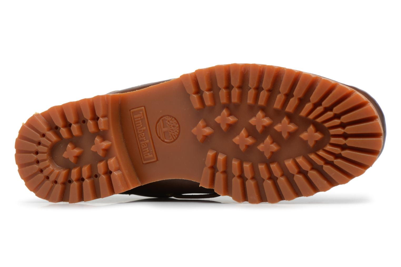Chaussures à lacets Timberland Authentics 3 Eye Classic Marron vue haut
