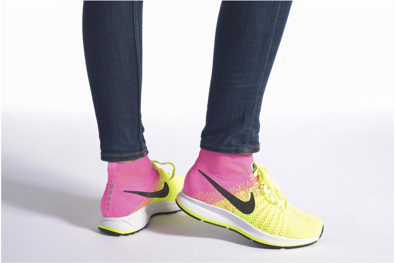 Baskets Nike Zm Peg All Out Flyknit Oc Gs Noir vue bas / vue portée sac