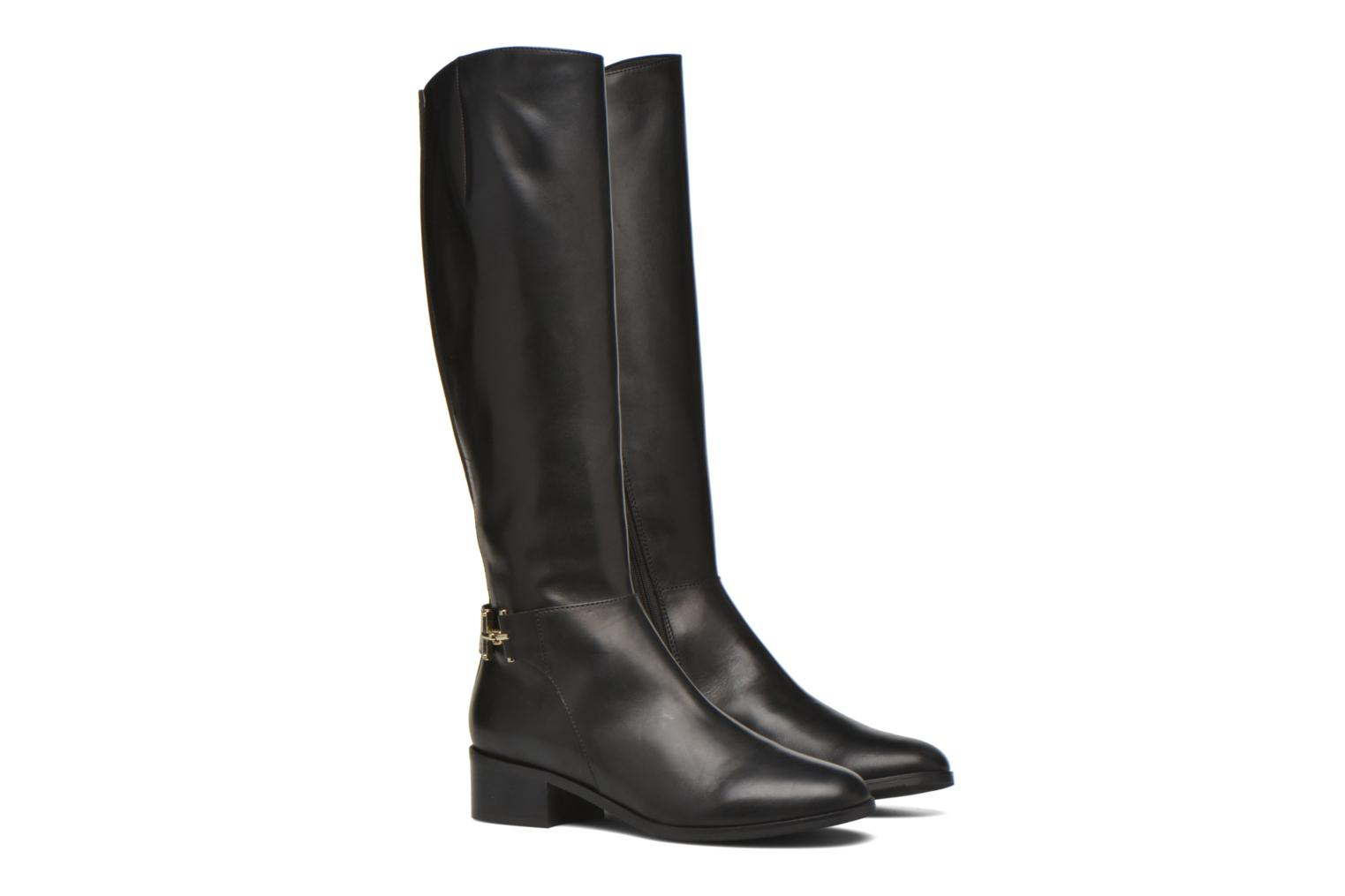 GEORGINA CALF LEATHER - BLACK