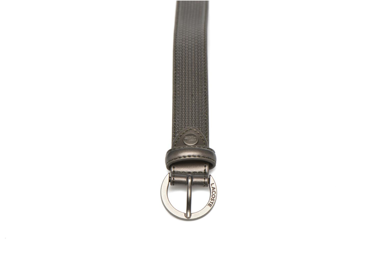 Leather belt N Grey