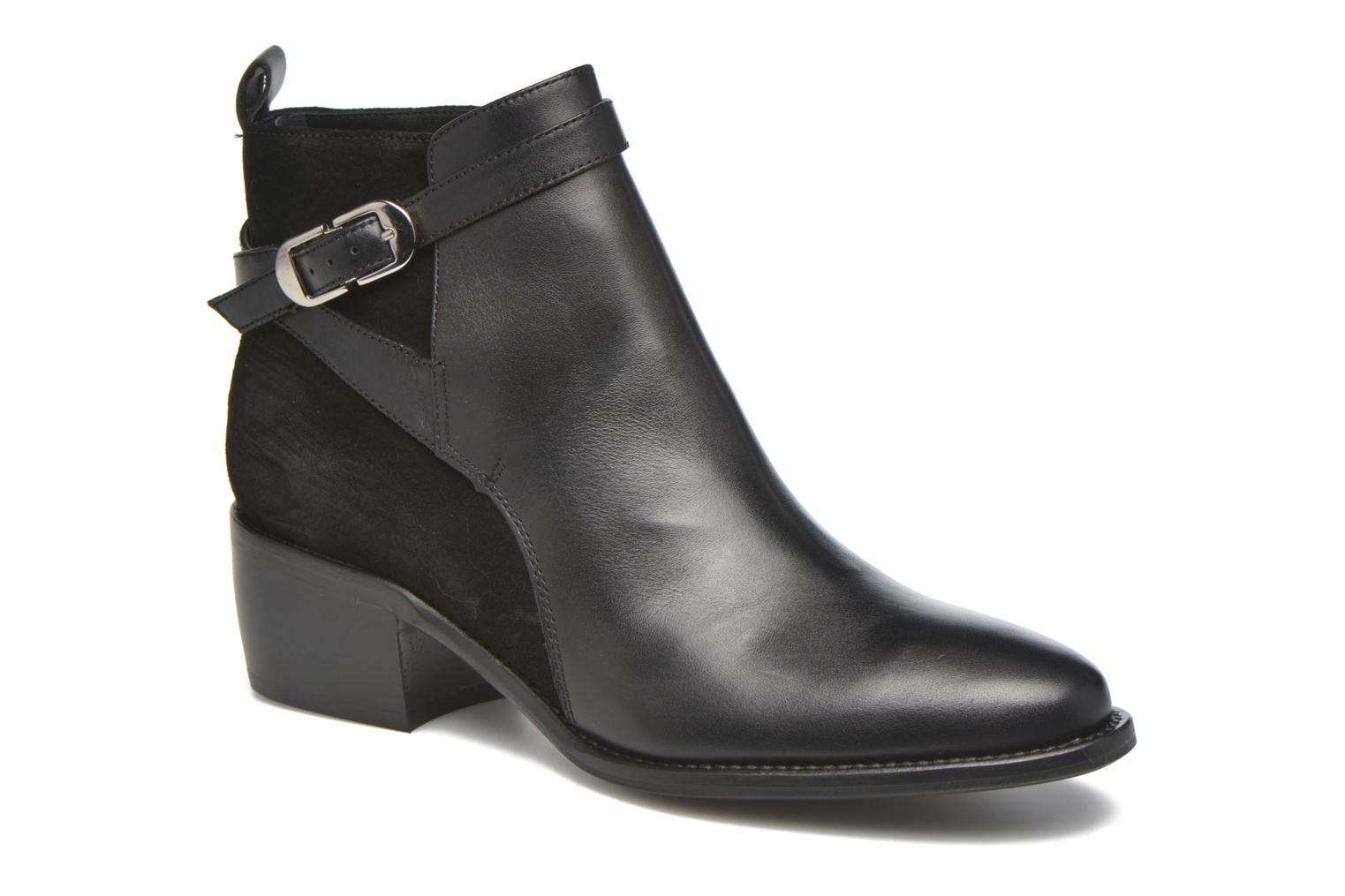 Ankle boots San Marina Ascoli Black detailed view/ Pair view