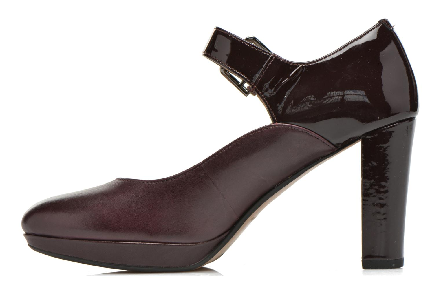 Kendra Gaby Aubergine Combi Leather