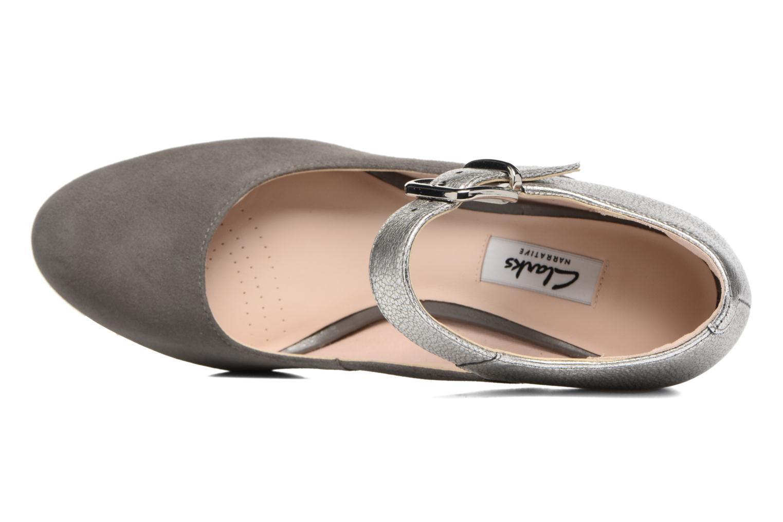 Zapatos de tacón Clarks Kendra Gaby Gris vista lateral izquierda