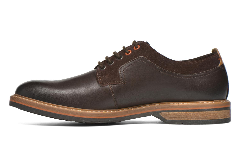 Chaussures à lacets Clarks Pitney Walk Marron vue face