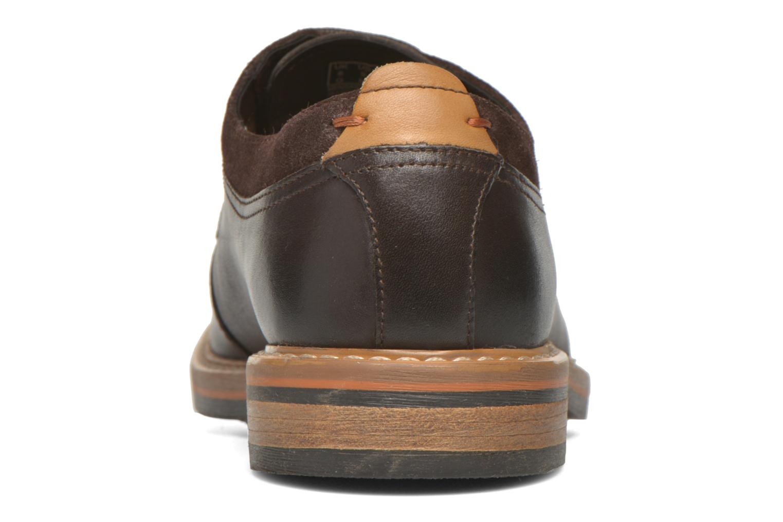 Chaussures à lacets Clarks Pitney Walk Marron vue droite