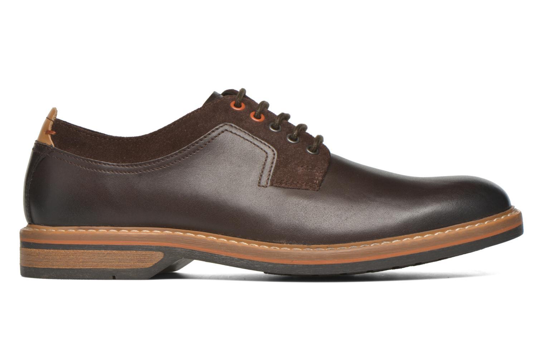 Chaussures à lacets Clarks Pitney Walk Marron vue derrière