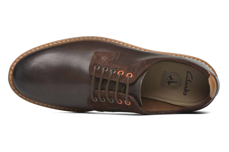 Chaussures à lacets Clarks Pitney Walk Marron vue gauche