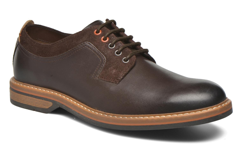 Chaussures à lacets Clarks Pitney Walk Marron vue détail/paire