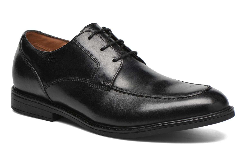 Chaussures à lacets Clarks Beckfield Apron Noir vue détail/paire