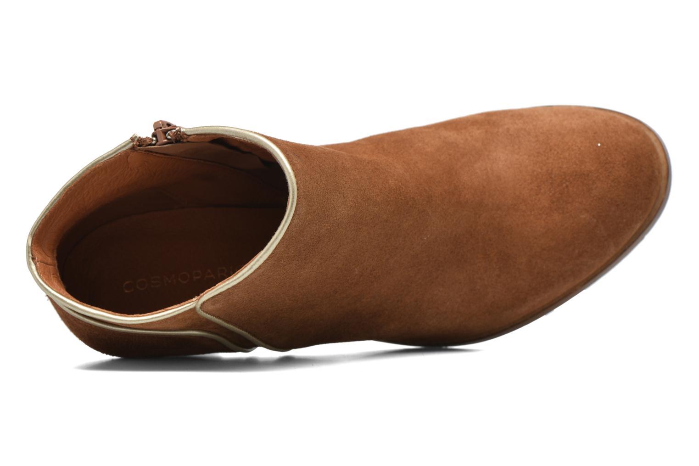 Bottines et boots COSMOPARIS Vimia/Vel Marron vue haut