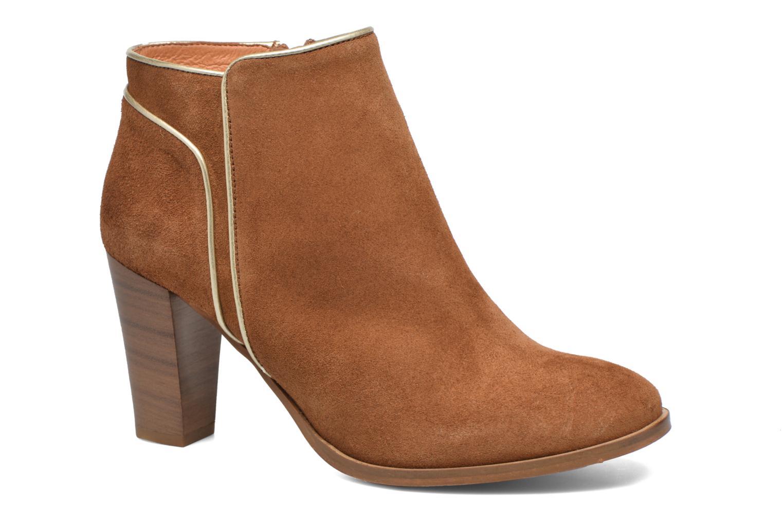 Bottines et boots COSMOPARIS Vimia/Vel Marron vue détail/paire