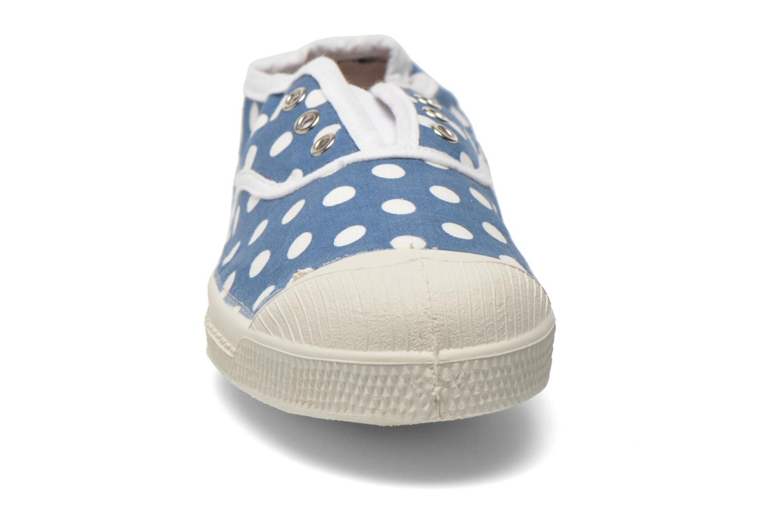 Baskets Bensimon Elly Pois E Bleu vue portées chaussures