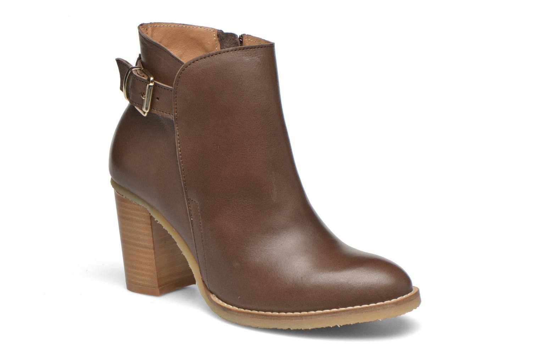 Bottines et boots Georgia Rose Acrepe Marron vue détail/paire