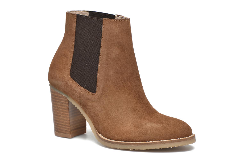 Bottines et boots Georgia Rose Atiag Marron vue détail/paire