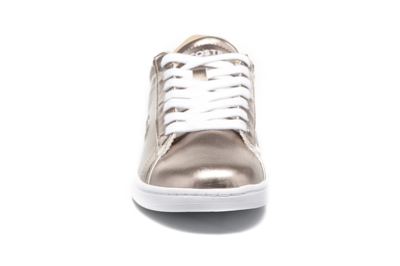 Sneaker Lacoste Carnaby Evo 316 2 gold/bronze schuhe getragen