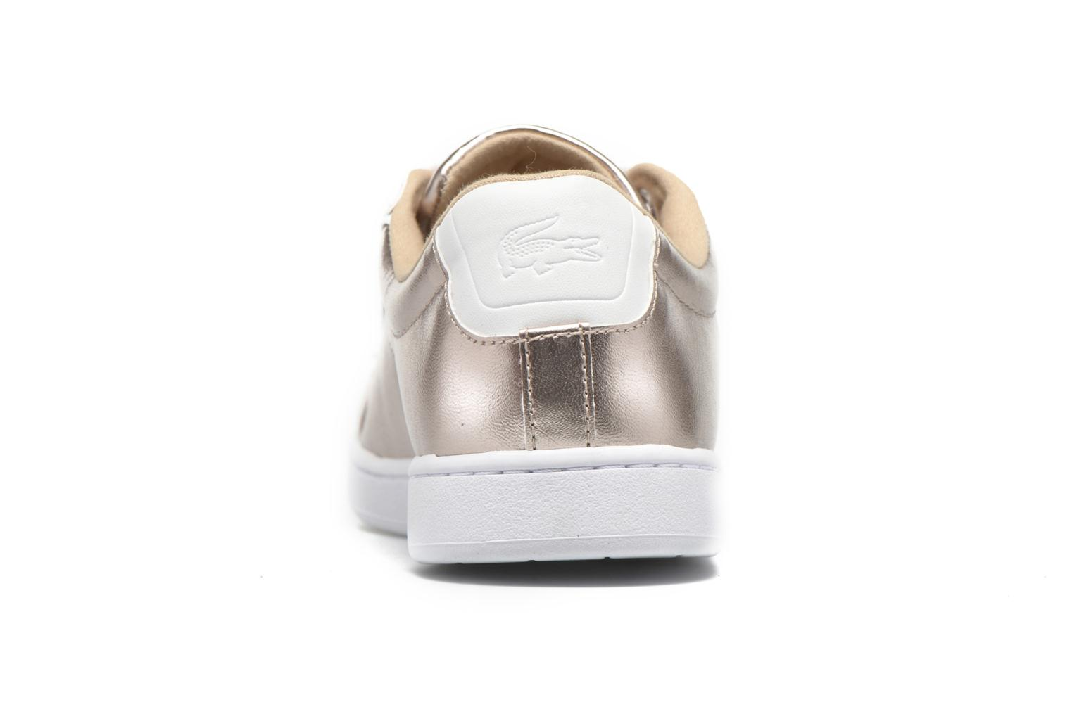 Baskets Lacoste Carnaby Evo 316 2 Or et bronze vue droite