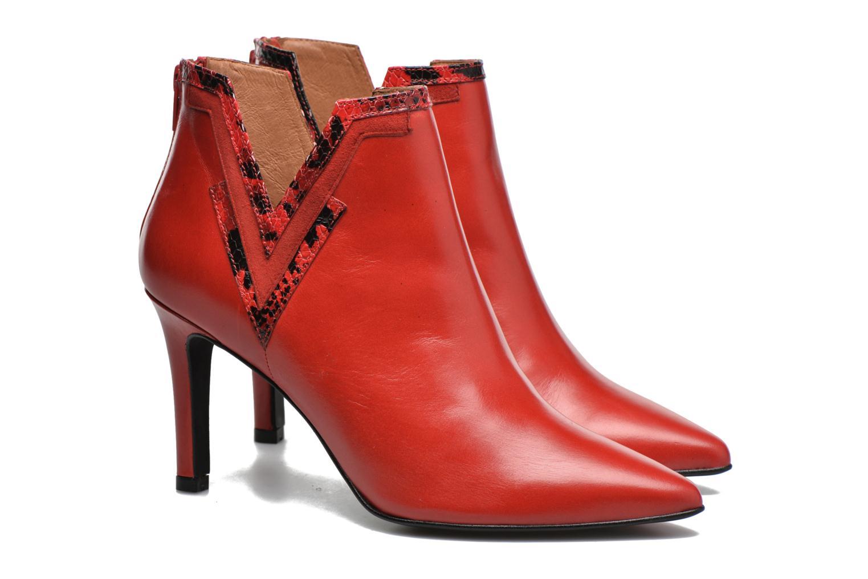 Stiefeletten & Boots Made by SARENZA Glamatomic #3 rot ansicht von hinten
