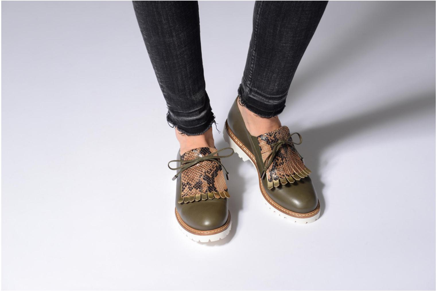 Loafers Made by SARENZA Busy Girl Chaussures à Lacets #2 Blue view from underneath / model view