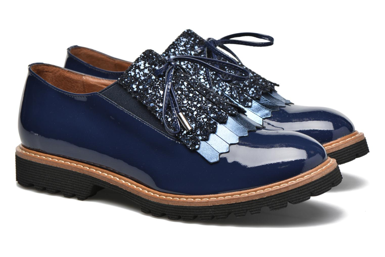 Mocassins Made by SARENZA Carioca Crew Chaussures à Lacets #3 Bleu vue derrière