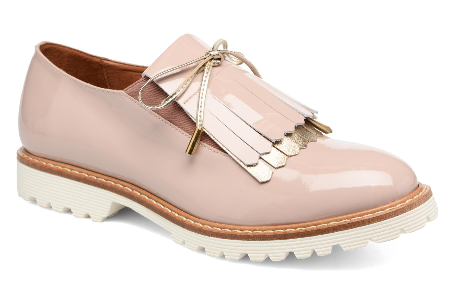 Mocassins Made by SARENZA Busy Girl Chaussures à Lacets #2 Beige vue droite