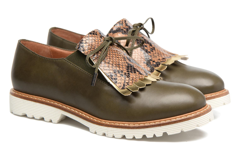 Mocassins Made by SARENZA Carioca Crew Chaussures à Lacets #3 Vert vue derrière