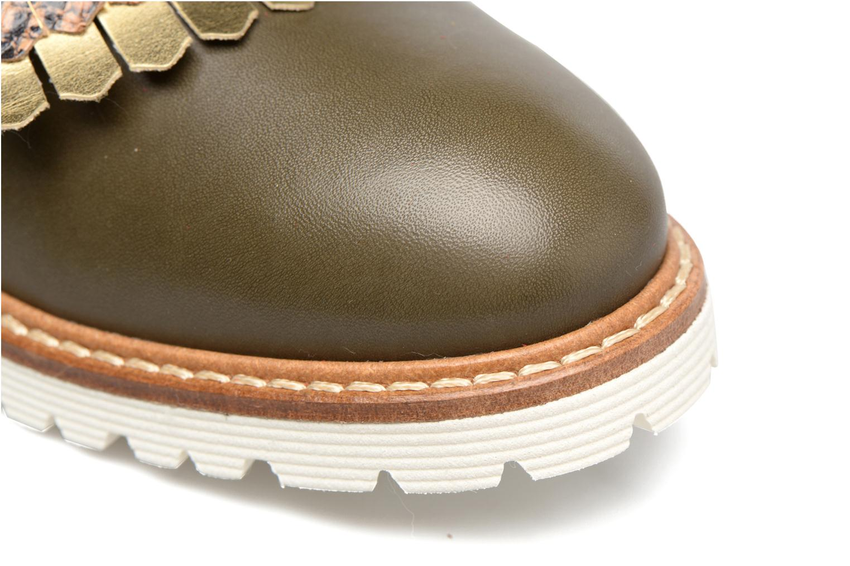 Mocassins Made by SARENZA Carioca Crew Chaussures à Lacets #3 Vert vue gauche