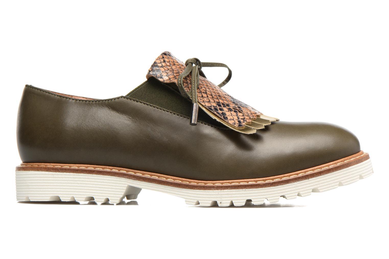 Mocassins Made by SARENZA Carioca Crew Chaussures à Lacets #3 Vert vue détail/paire