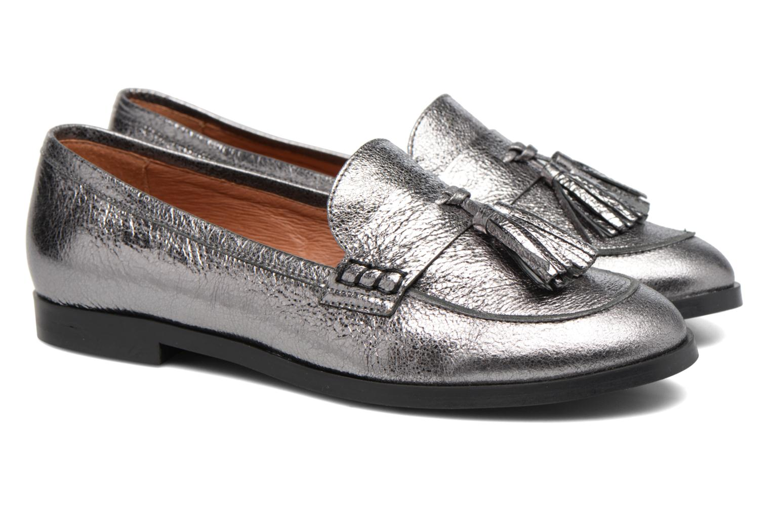 Loafers Made by SARENZA Partygloo #10 Silver back view