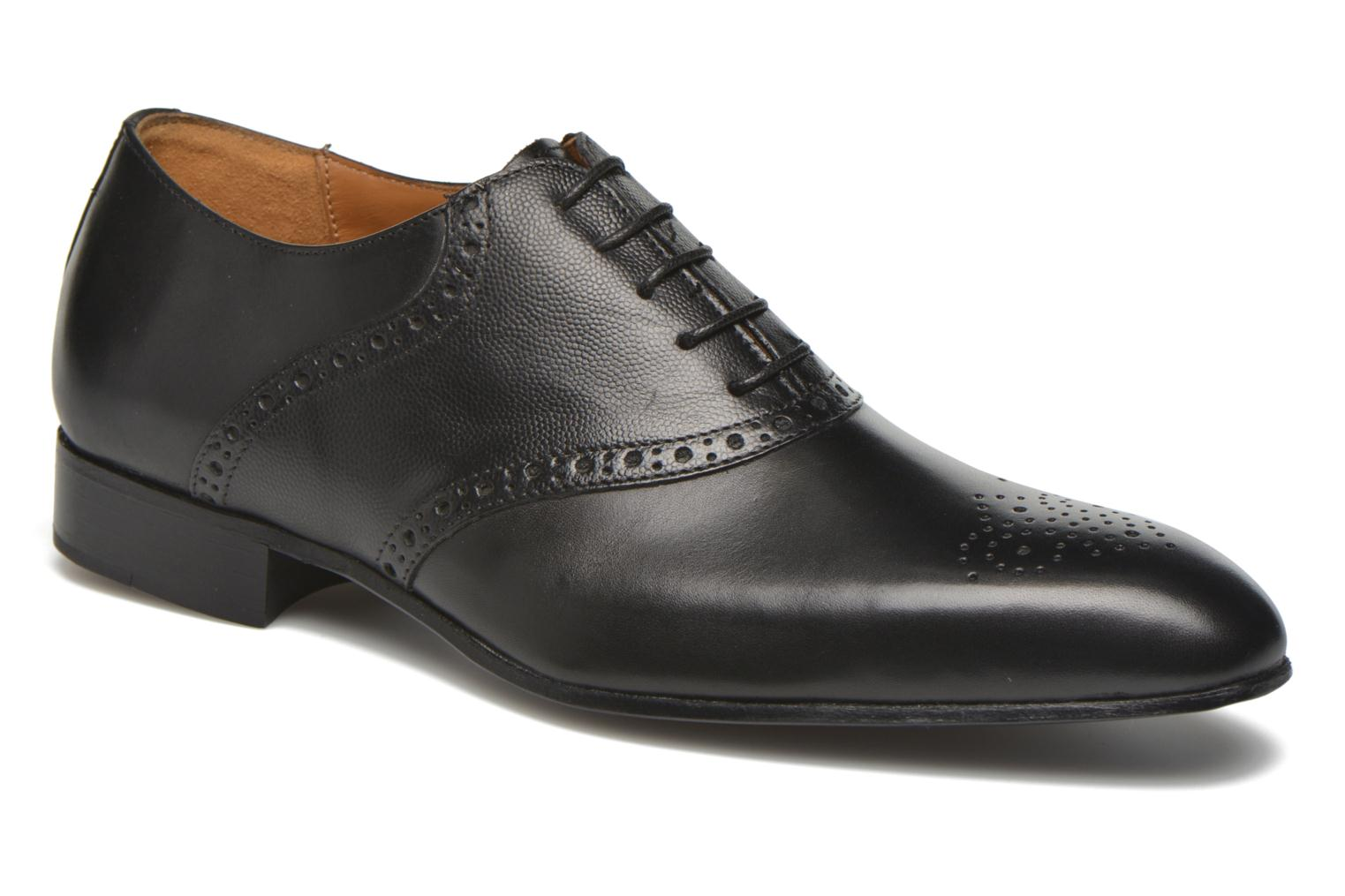 Lace-up shoes Marvin&co Newquay Black detailed view/ Pair view