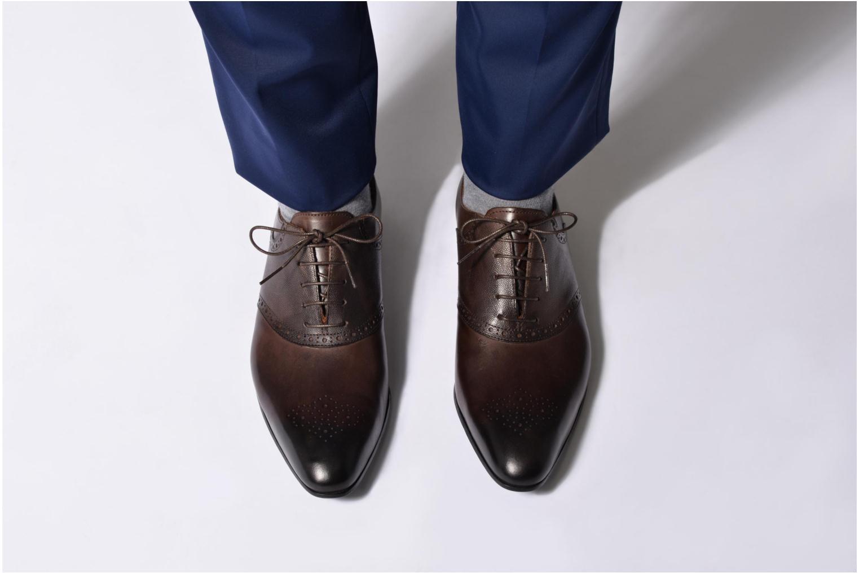 Chaussures à lacets Marvin&Co Newquay Bleu vue bas / vue portée sac