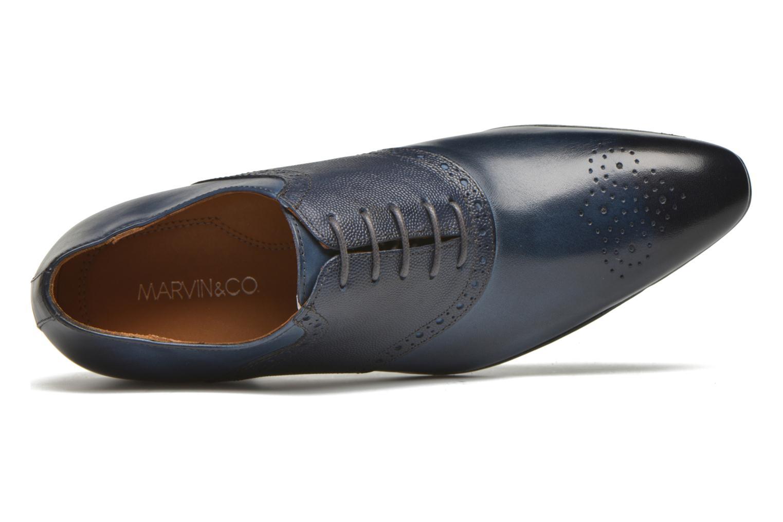 Veterschoenen Marvin&Co Newquay Blauw links