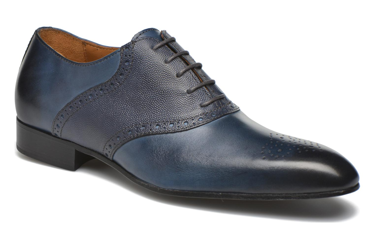 Lace-up shoes Marvin&co Newquay Blue detailed view/ Pair view