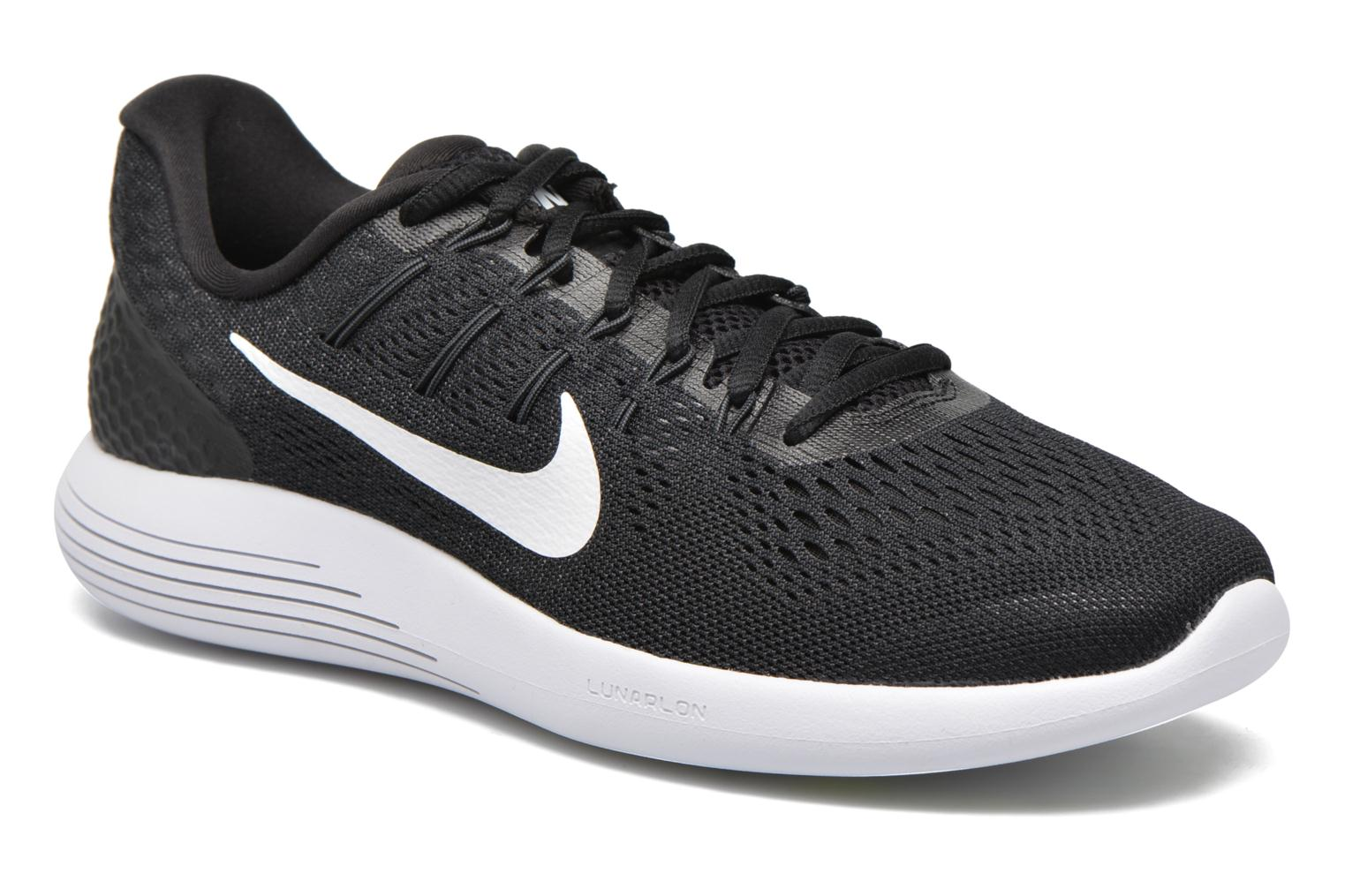Sport shoes Nike Nike Lunarglide 8 Black detailed view/ Pair view