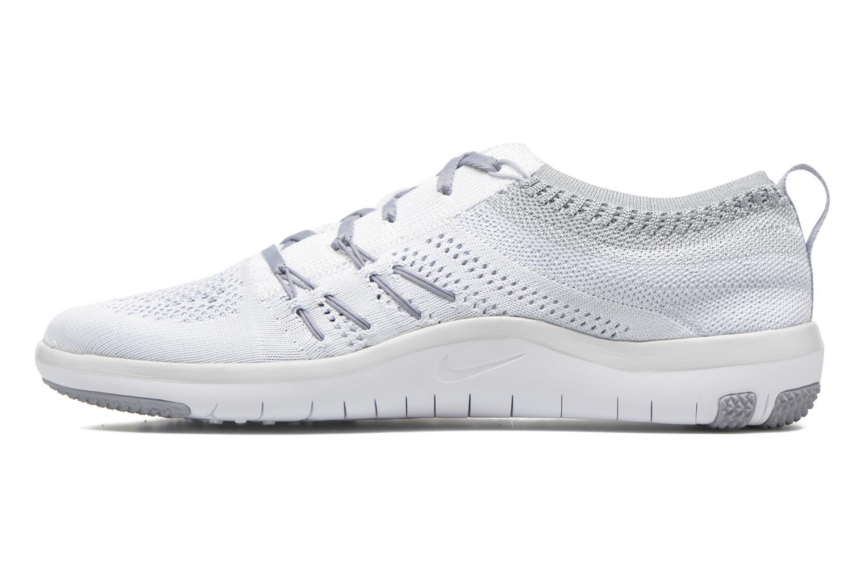 Chaussures de sport Nike W Nike Free Tr Focus Flyknit Blanc vue face