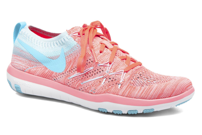 Sportssko Nike W Nike Free Tr Focus Flyknit Blå detaljeret billede af skoene