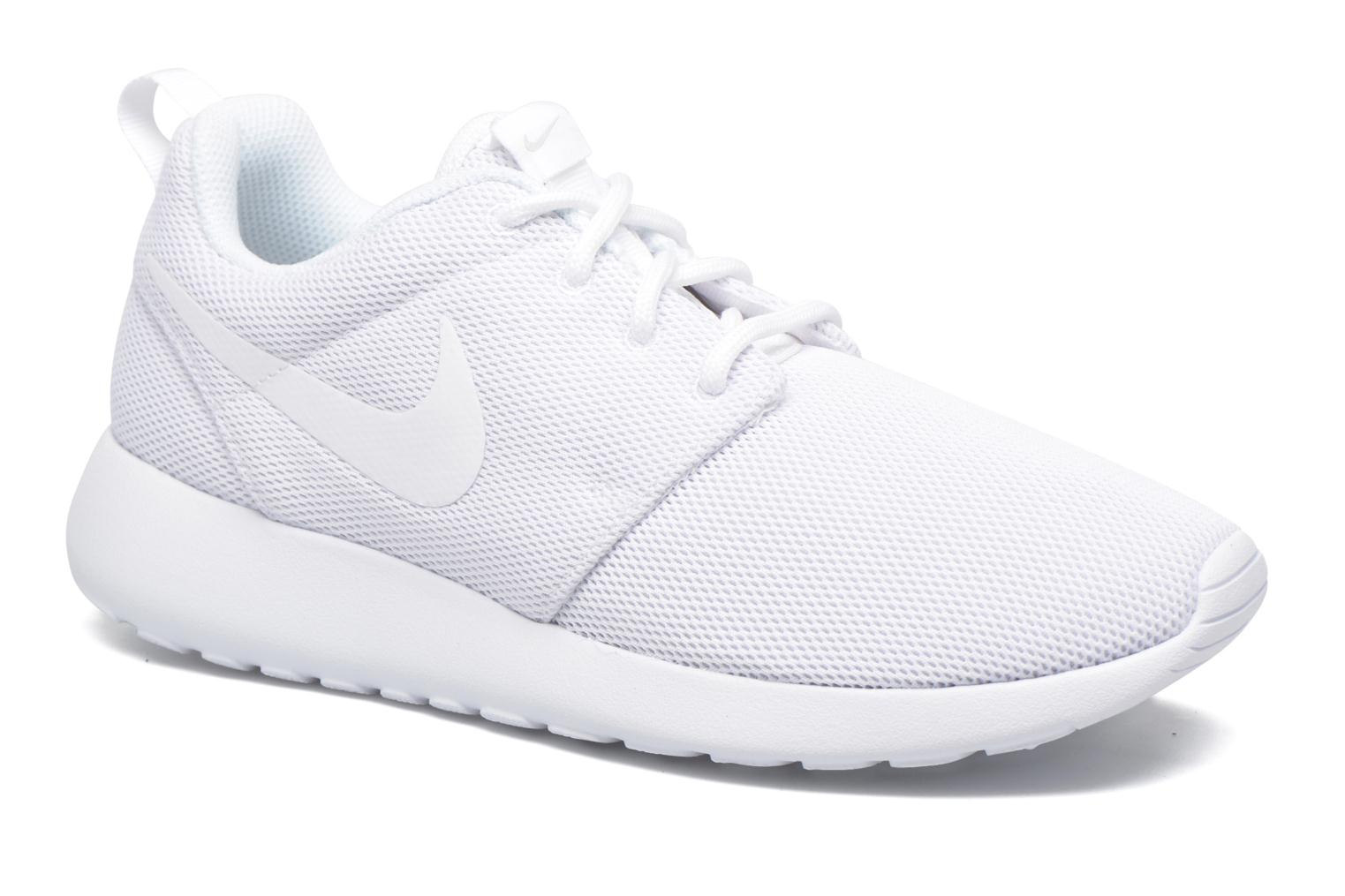 nike roshe run sneakers dames zwart wit