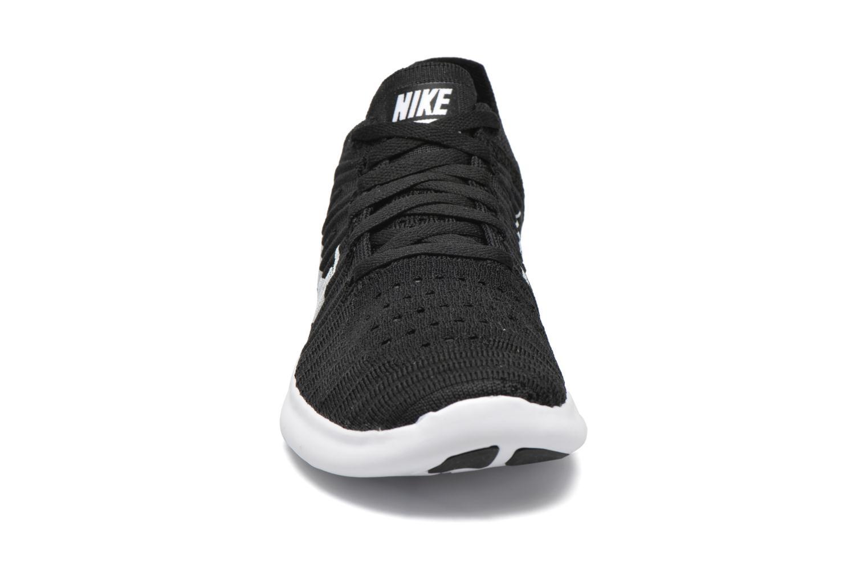 Wmns Nike Free Rn Flyknit Black/white