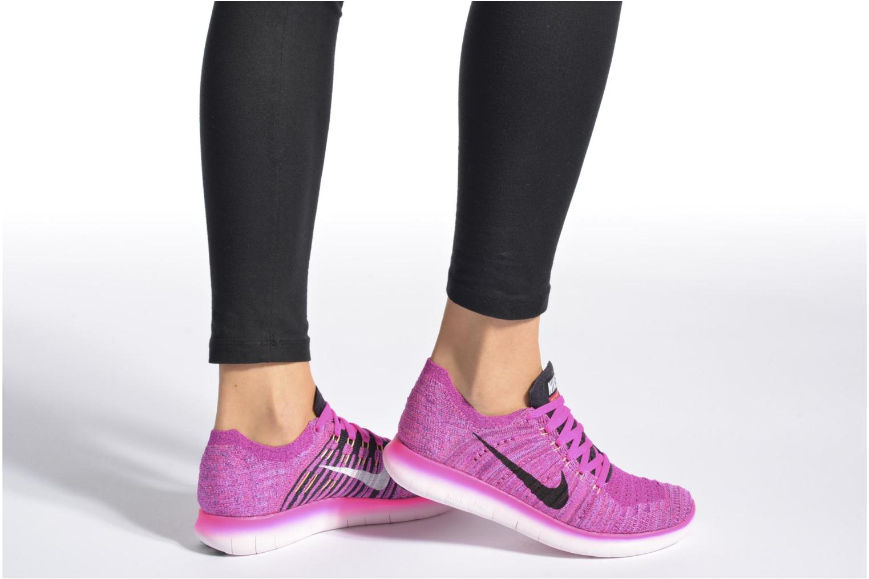 Chaussures de sport Nike Wmns Nike Free Rn Flyknit Noir vue bas / vue portée sac